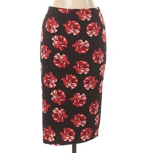 Vince Camuto Rose Printed Pencil Skirt